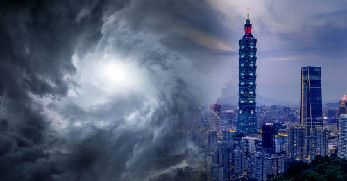 Se abrió un agujero en el cielo que descargó lluvia en solo una parte de Taiwán
