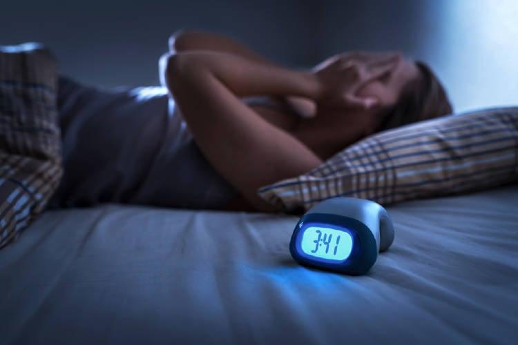 Tener insomnio por la noche