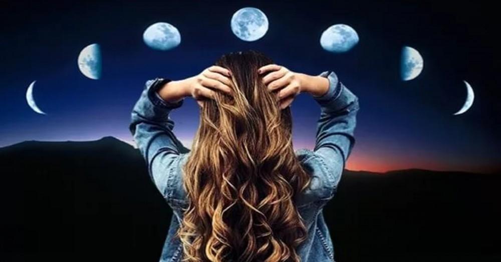Luna llena para el corte de pelo