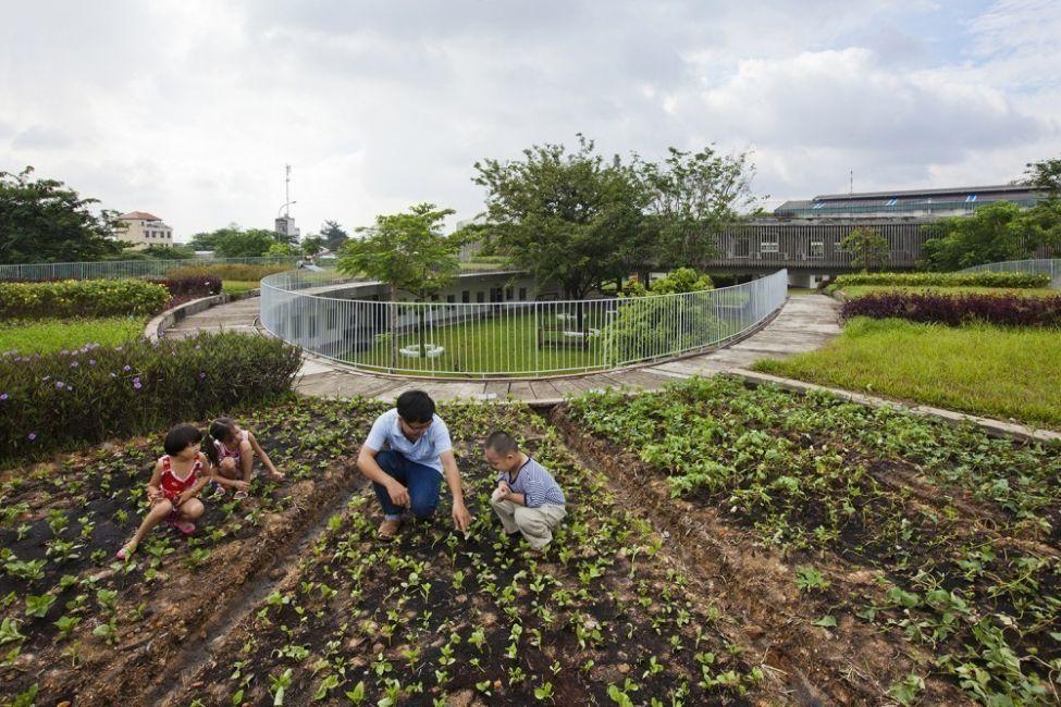 Estos niños van a un jardín ecológico en Vietnam- 3