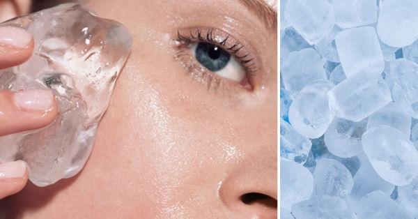 Truco para mejorar la piel usando cubos de hielo