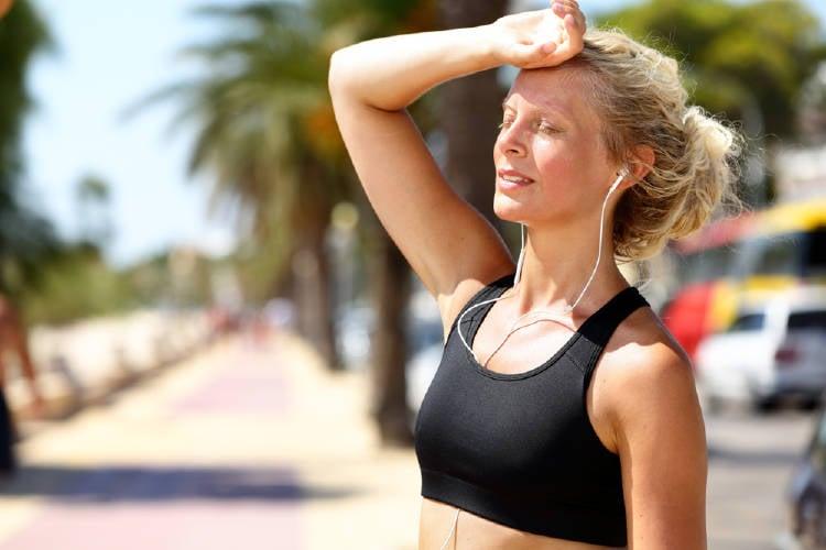 calor rostro ejercicio