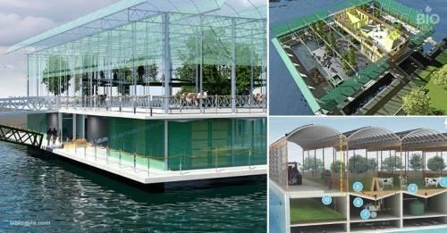 Así es la primera y sorprendente granja urbana flotante del mundo