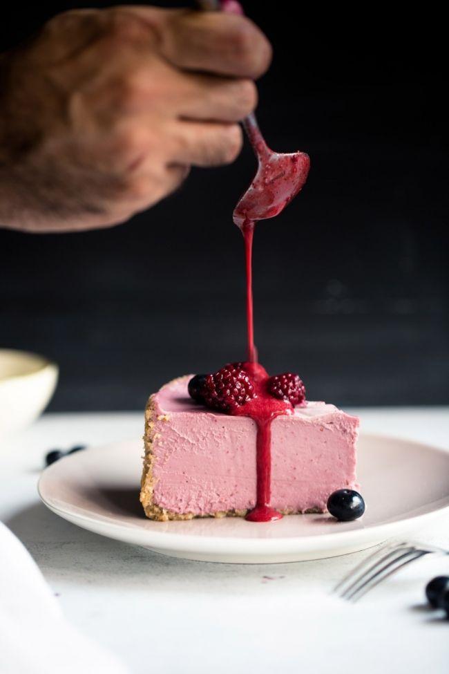 torta raw de frambuesa