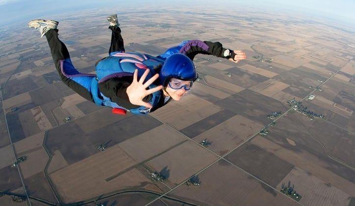 Murray ocasionalmente saltaba en paracaídas antes de su accidente
