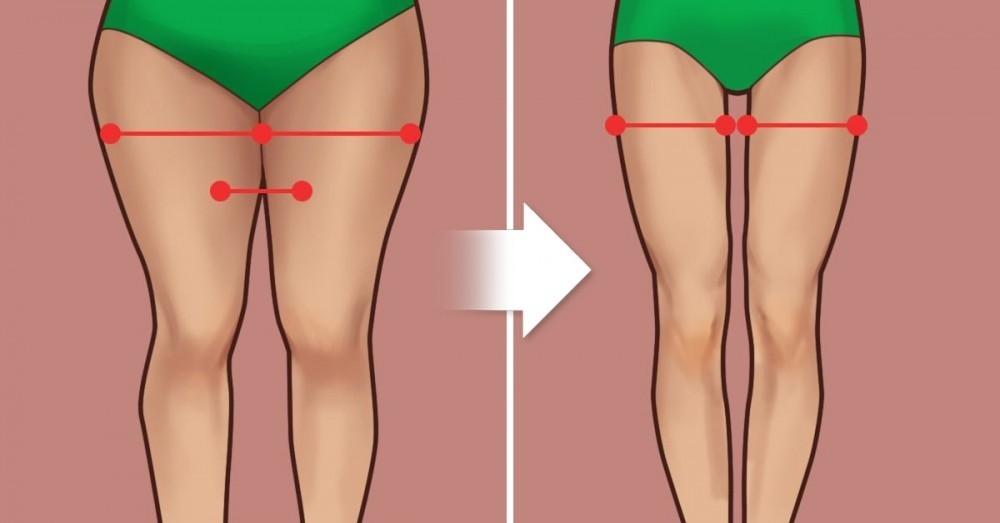 como quitar la grasa interna delos muslos