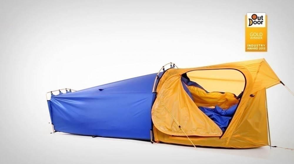 Una bolsa de dormir ¡que además es una carpa!