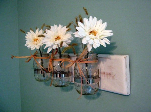 decoration-ideas-adorable-picture-of-distressed-glass-jar-wood-vase-wall-sconces-and-light-blue-interior-wall-paint-incredible-images-of-vase-wall-sconces-for-wall-decorating