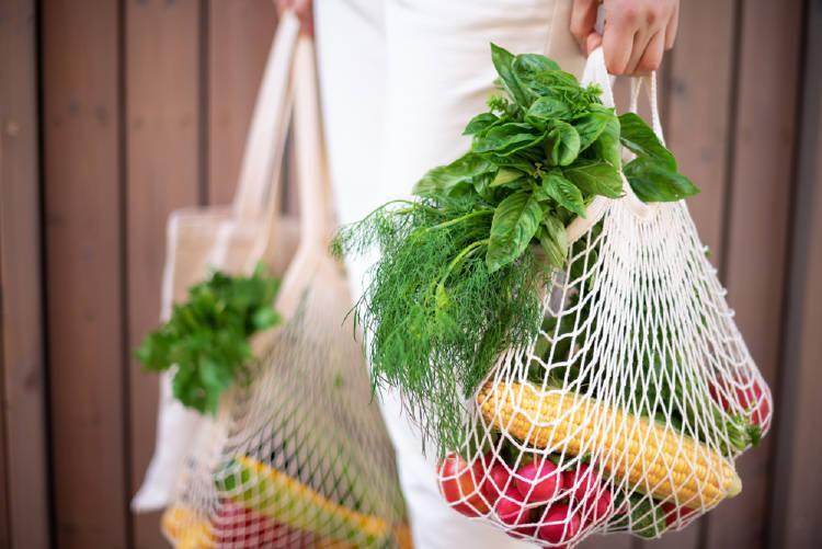 compras vegetales bolsas