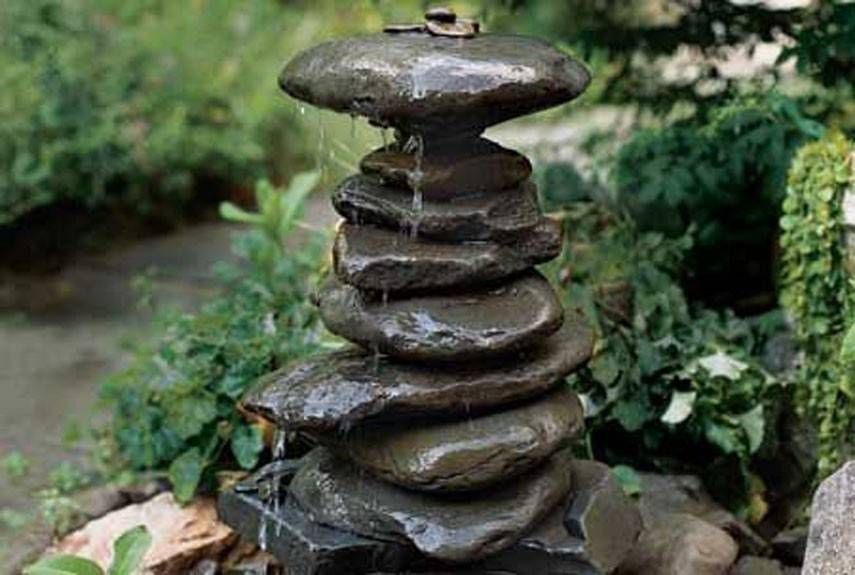 Cómo construir una fuente zen