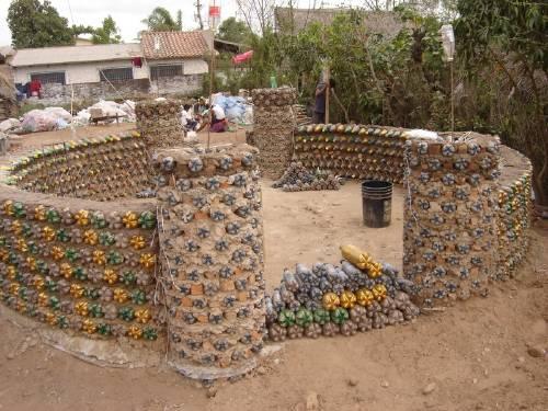 Las botellas PET para la construcción