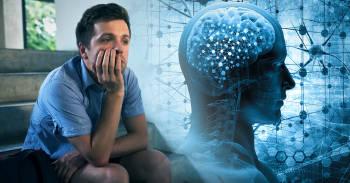 hombre pensando, funcionamiento del cerebro y las neuronas