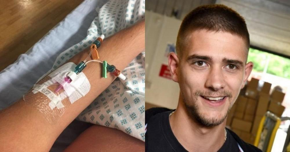 Luke Hanoman comenzó a sentirse mal después de morder la piel por el costado de la uña