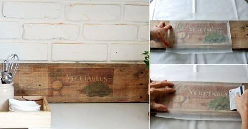 Cómo transferir imágenes sobre superficies de madera