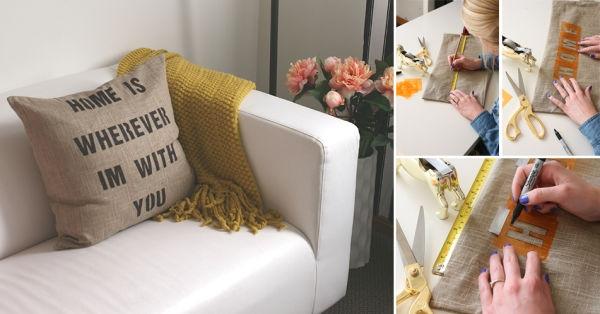 C mo hacer almohadones con frases en stencil - Como hacer almohadones ...
