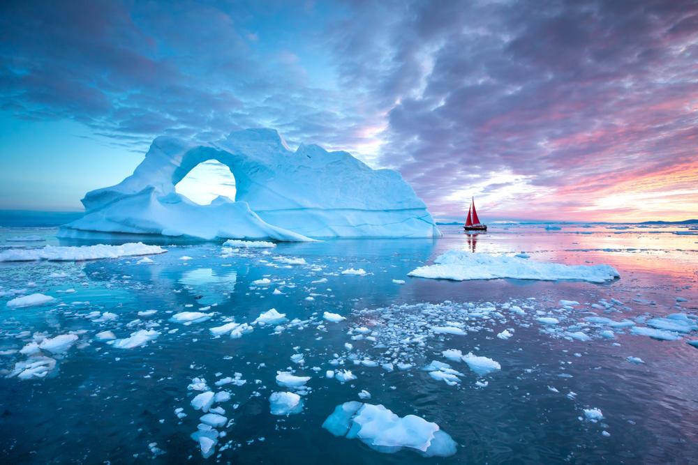 Groenlandia perdió un récord de un millón de toneladas de hielo