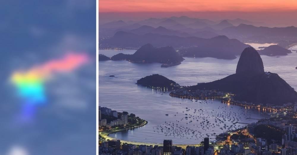Esta hermosa nube arcoíris apareció en Brasil y dejó a todos sin palabras