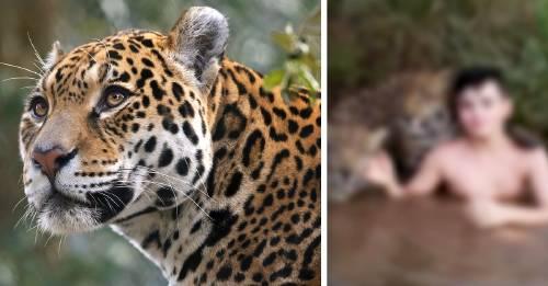 La verdadera historia detrás del niño que se baña con jaguares