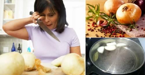 Cómo cortar cebolla sin llorar