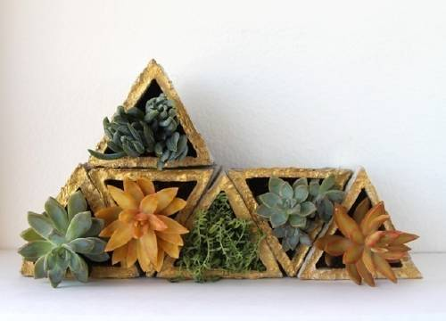 Cómo hacer macetas geométricas modulares paso a paso