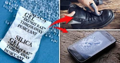 """5 formas """"milagrosas"""" de reutilizar esas bolsitas que vienen en los zapatos"""
