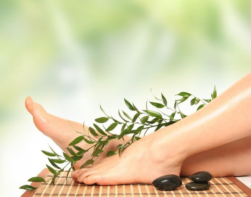 automasaje relajante en los pies