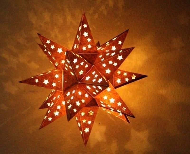 Cómo hacer una lámpara estrella brillante para recibir la Navidad