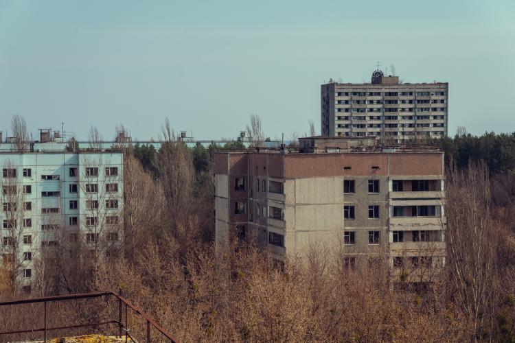 chernobil edificio abandonado