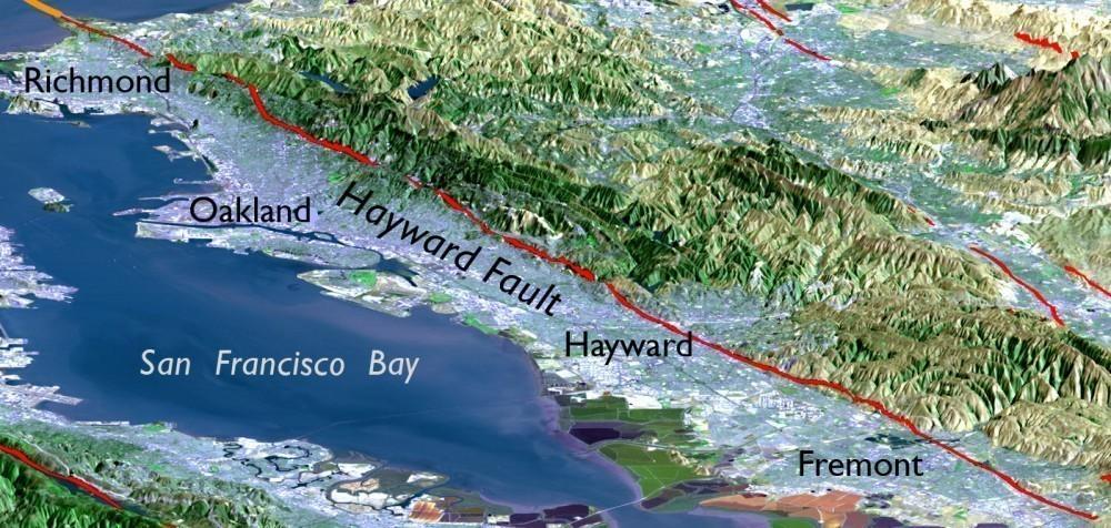 bomba de tiempo - falla de Hayward