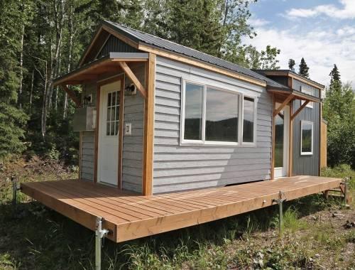 Pequeña casa para aprovechar al máximo el espacio y la comodidad
