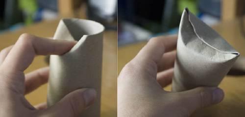Reciclar carton, rollos de papel