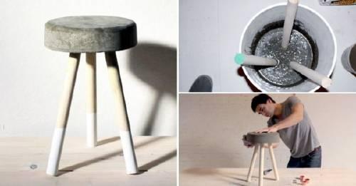 Haz tu propio taburete de concreto