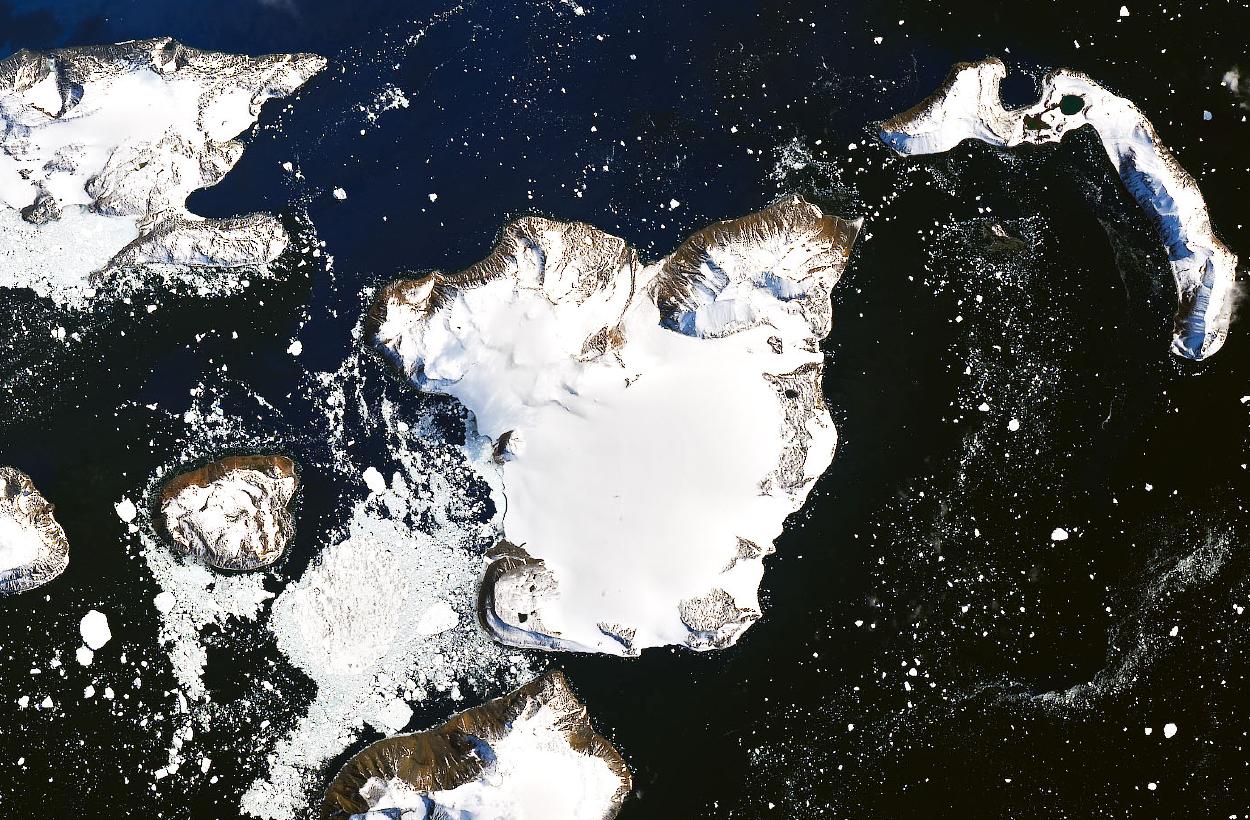 Una isla de la Antártida se derrite por la ola de calor