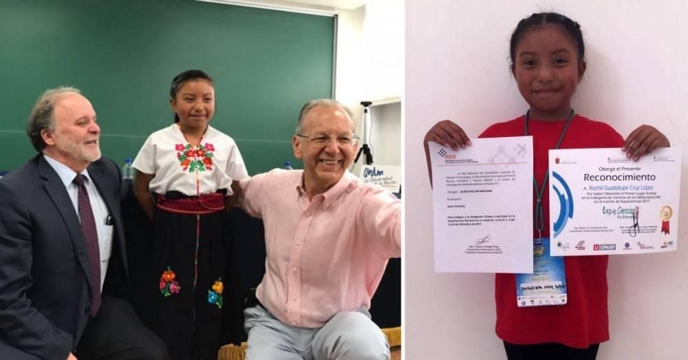 Una niña de 8 años construyó un calentador solar para su casa y fue premiad..