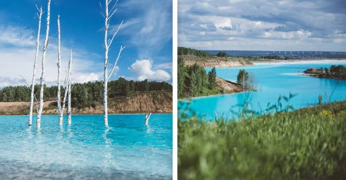 Este extraño lago turquesa se volvió viral, pero esconde un secreto tóxico y mor