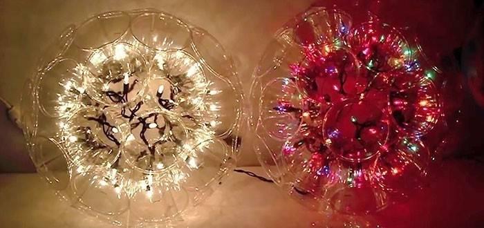 Crea esferas luminosas con vasos desechables