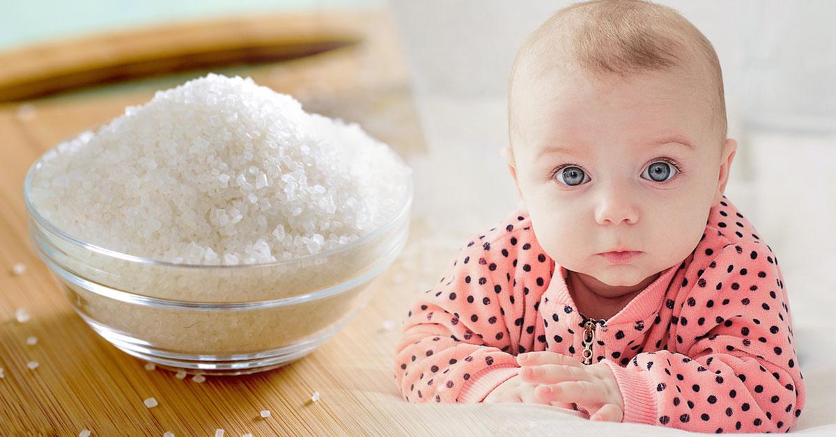 dar azucar a bebes