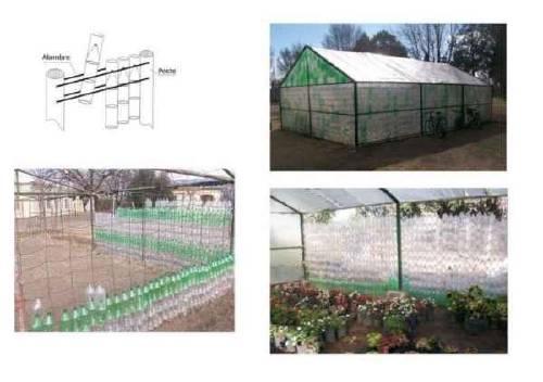 Invernadero con Botellas de Plástico