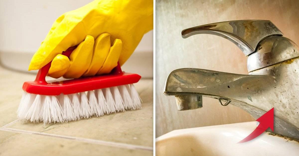 5 trucos caseros para librarte por siempre de esas imposibles suciedades de distintas áreas del baño