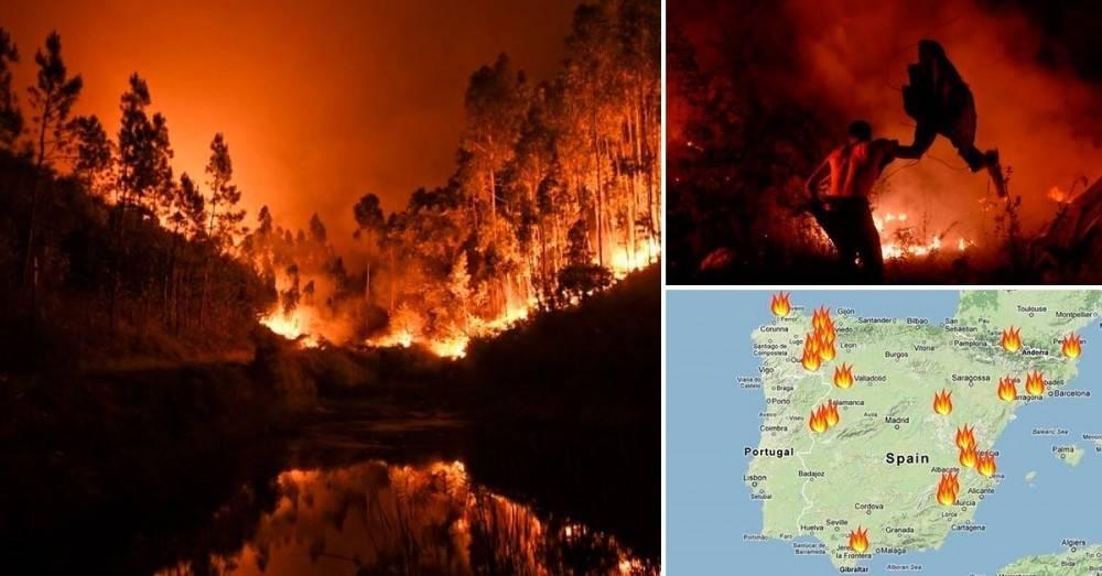 Ola de incendios forestales en España y Portugal: cuáles son las posibles ca..
