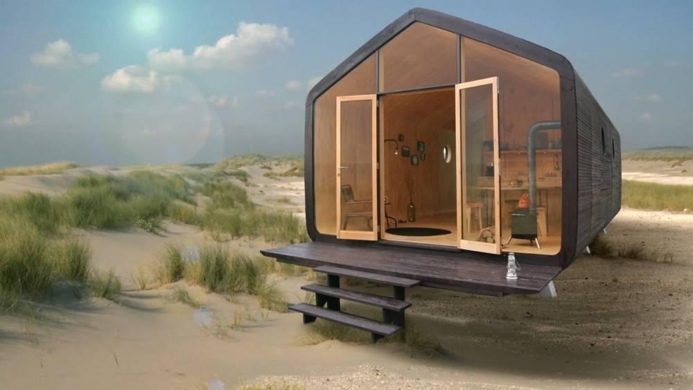 Una casita 100% reciclable que puede durar un siglo