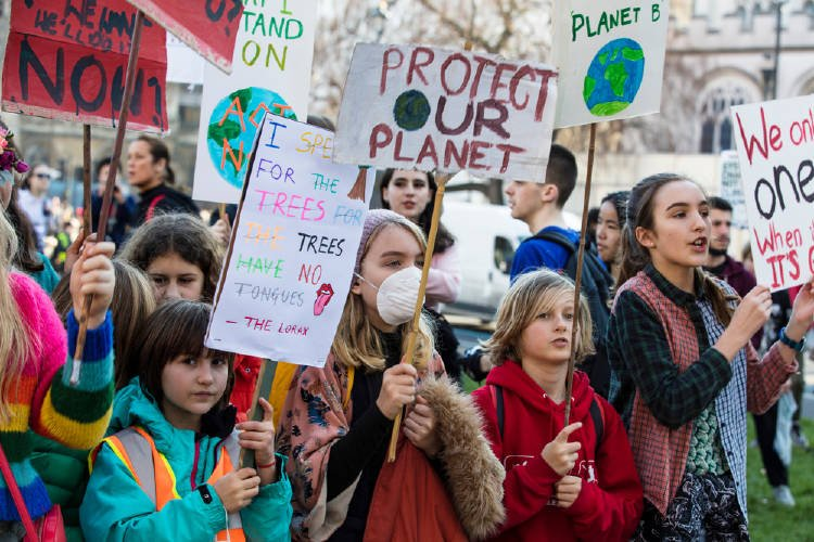 protesta climatica jovenes