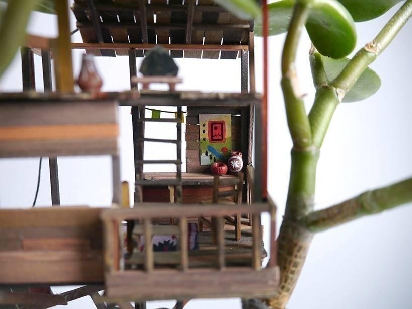 Pequeñas casas del árbol... ¡en macetas!