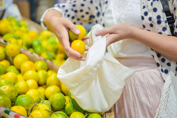 limones bolsa tela
