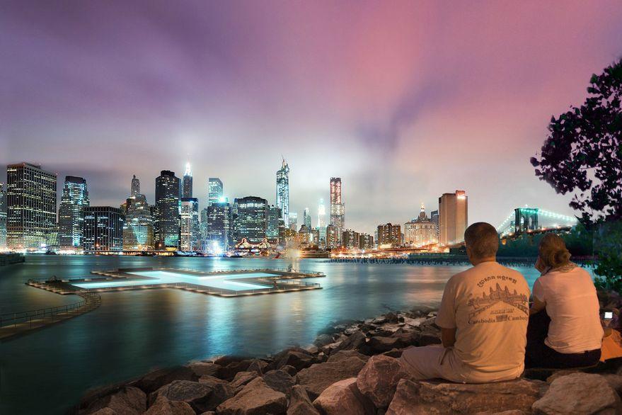 Conoce la pileta flotante que construirán en medio del río en la ciudad de Nueva York