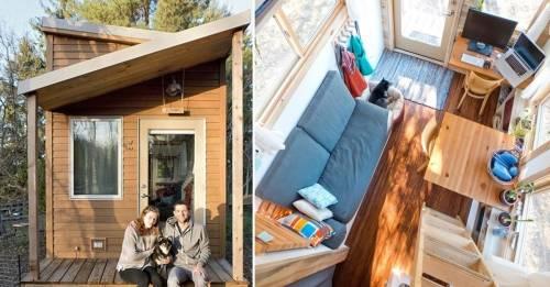 Cansado de pagar alquiler, construyó una pequeña casita multifuncional que l..