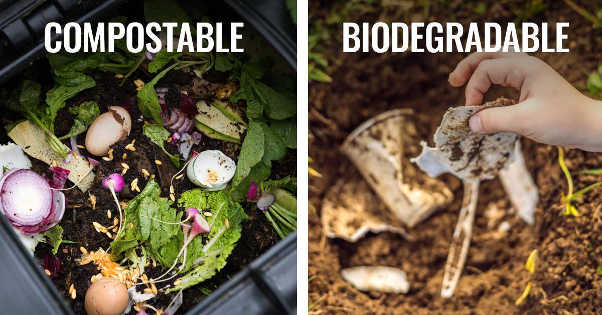 ¿Cuál es la diferencia entre biodegradable y compostable?