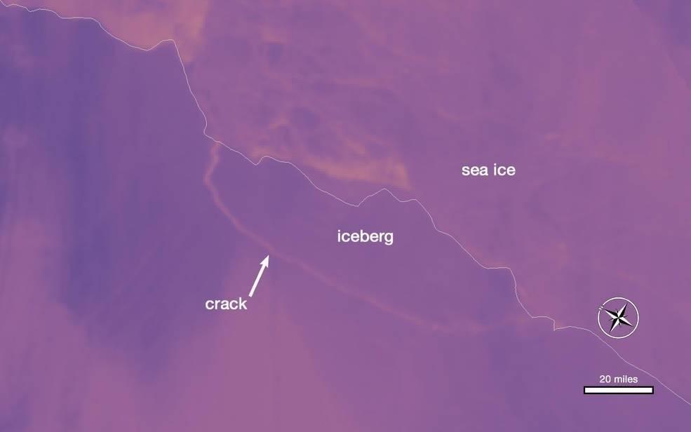 ¿Dónde está el iceberg que se desprendió de la Antártida?