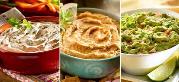 3 Dips fáciles y deliciosos