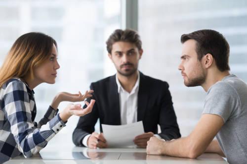 Discusión en la oficina